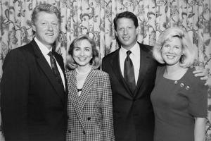 1992 Democratic Nominees for President and Vice President with their Wives
