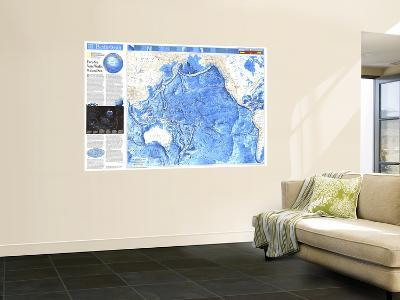 1992 Pacific Ocean Map-National Geographic Maps-Wall Mural