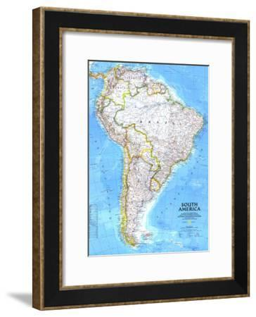 1992 South America Map-National Geographic Maps-Framed Art Print