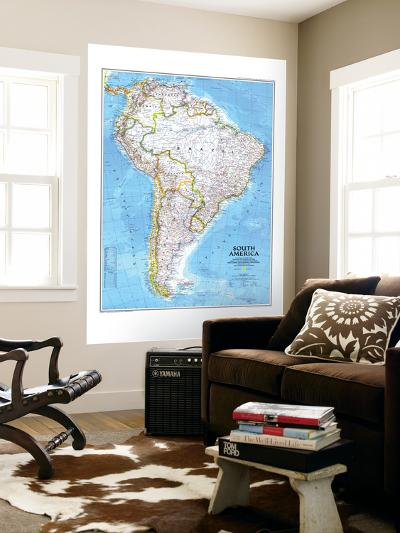 1992 South America Map-National Geographic Maps-Wall Mural