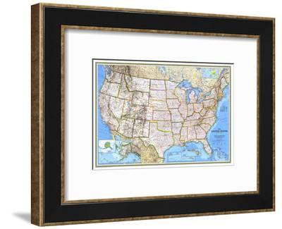 1993 United States Map-National Geographic Maps-Framed Art Print
