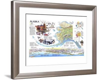 1994 Alaska Theme-National Geographic Maps-Framed Art Print