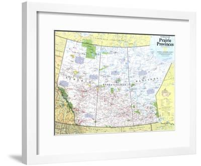 1994 Making of Canada, Prairie Provinces Map-National Geographic Maps-Framed Art Print