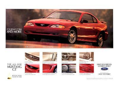 1994 Mustang - What It Was…--Art Print