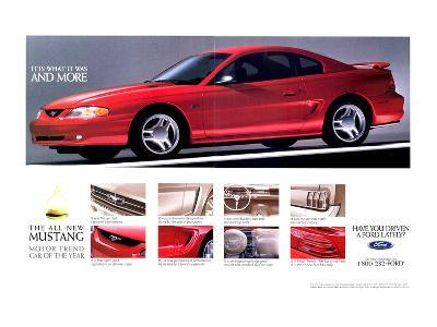 1994Mustang-What It Was & More--Art Print