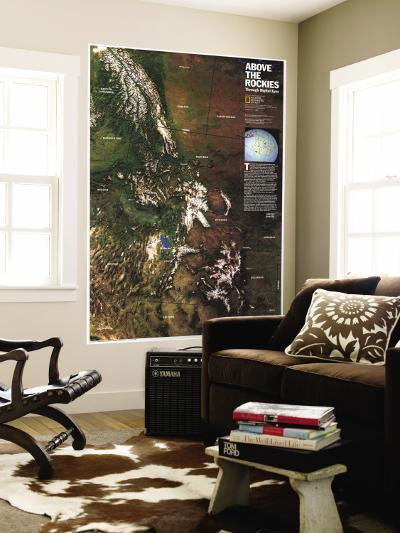 1995 Above the Rockies Map-National Geographic Maps-Wall Mural