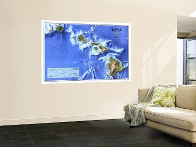 1995 Hawaii Map-National Geographic Maps-Wall Mural