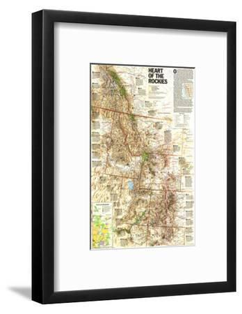 1995 Heart of the Rockies Map-National Geographic Maps-Framed Art Print