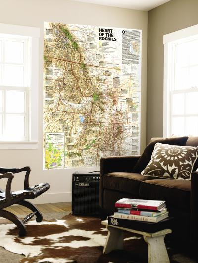 1995 Heart of the Rockies Map-National Geographic Maps-Wall Mural