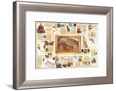 1995 Historical Italy Theme-National Geographic Maps-Framed Art Print