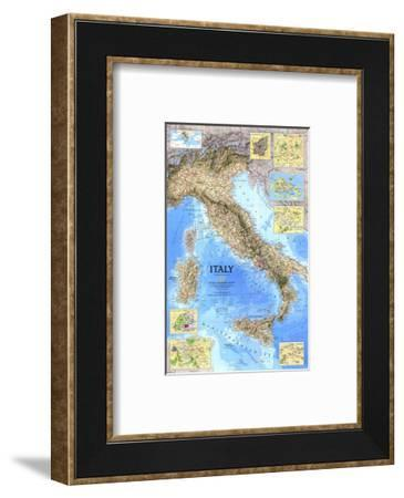1995 Italy Map-National Geographic Maps-Framed Art Print