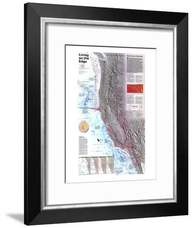 1995 Living on the Edge Map-National Geographic Maps-Framed Art Print