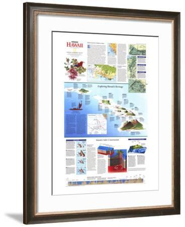 1995 Rediscovering Hawaii Map-National Geographic Maps-Framed Art Print