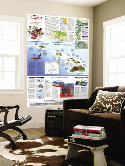1995 Rediscovering Hawaii Map-National Geographic Maps-Wall Mural