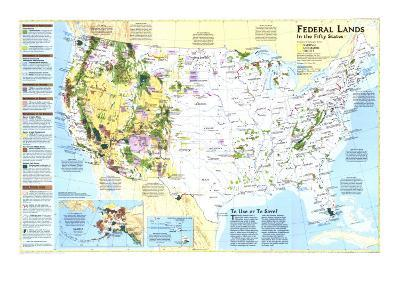 1996 Federal Lands in the Fifty States-National Geographic Maps-Art Print