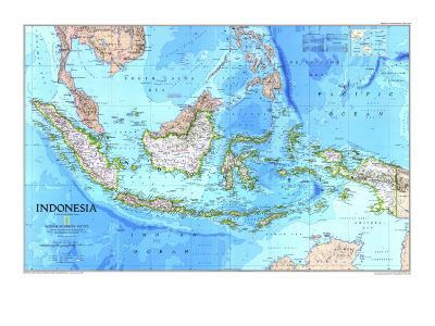 1996 Indonesia Map-National Geographic Maps-Art Print