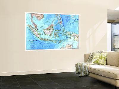 1996 Indonesia Map-National Geographic Maps-Wall Mural