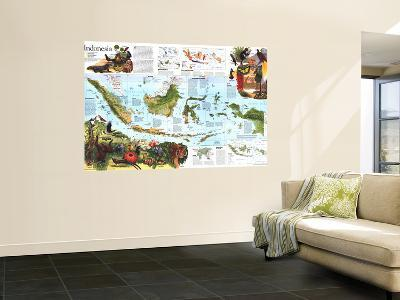 1996 Indonesia Theme Map-National Geographic Maps-Wall Mural