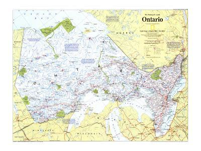 1996 Making of Canada, Ontario Map-National Geographic Maps-Art Print