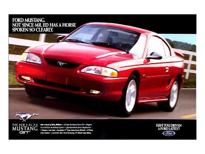 1996 Mustang-Spoken So Clearly--Art Print