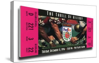 1996 Orange Bowl Mega Ticket - Nebraska Cornhuskers