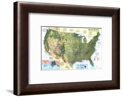1996 United States, the Physical Landscape Map-National Geographic Maps-Framed Art Print
