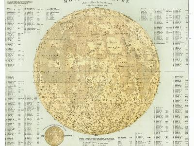 19th Century Map of the Moon-Detlev Van Ravenswaay-Photographic Print