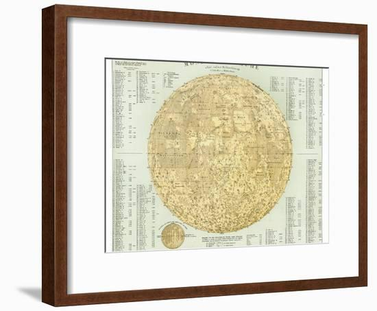 19th Century Map of the Moon-Detlev Van Ravenswaay-Framed Photographic Print