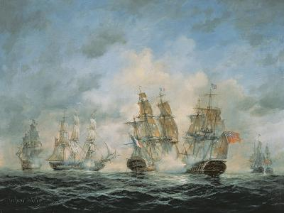 19th Century Naval Engagement in Home Waters-Richard Willis-Giclee Print