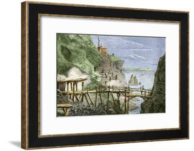 19th-century Tin Mine, Cornwall-Sheila Terry-Framed Photographic Print