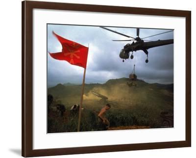 1st Air Cavalry Skycrane Helicopter Delivering Ammunition