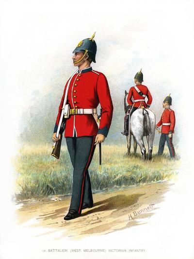 1st Battalion (West Melbourn) Victoria Infantry, C1890-H Bunnett-Giclee Print