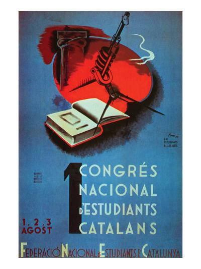 1st National Congress of Catalan Students- Student Federation of Catalonia-Art Print