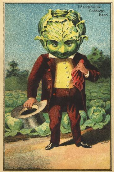 1st Premium Cabbage Head Trade Card--Giclee Print