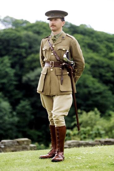 1st World War, British Officer, 1914 - 1918, Re-Enactment--Giclee Print