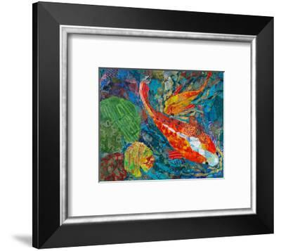 2 Koi--Framed Art Print