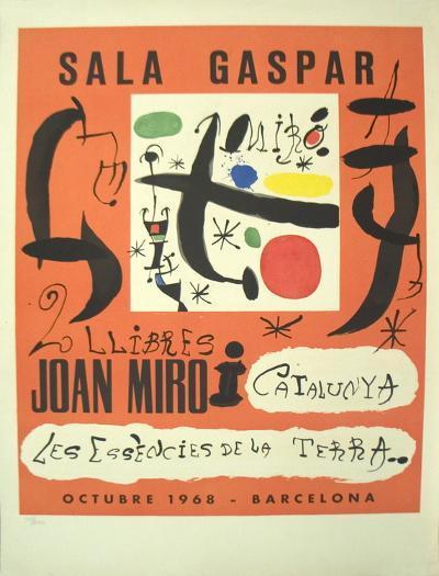 2 Llibres: Joan Miro i Catalunya-Les Essencies De La Terra-Joan Mir?-Collectable Print