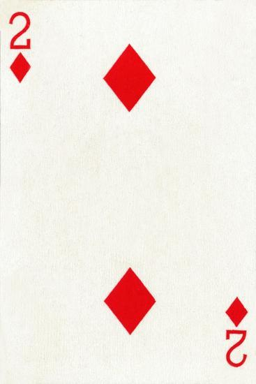2 of Diamonds from a deck of Goodall & Son Ltd. playing cards, c1940-Unknown-Giclee Print