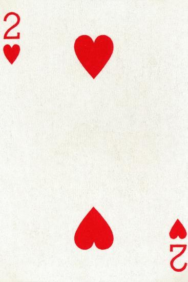 2 of Hearts from a deck of Goodall & Son Ltd. playing cards, c1940-Unknown-Giclee Print