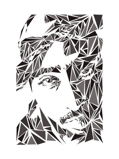 2 Pac-Cristian Mielu-Art Print
