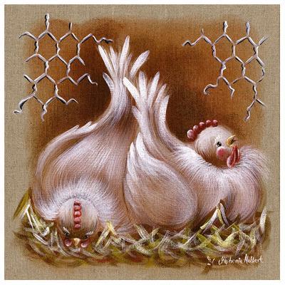 2 Poules-Stephanie Holbert-Art Print