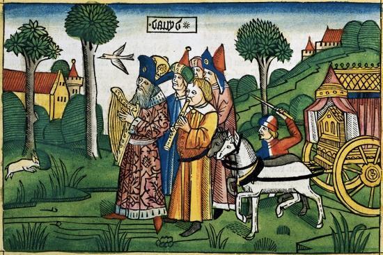2 Samuel 6:1-5: David brings the Ark to Jerusalem-Unknown-Giclee Print
