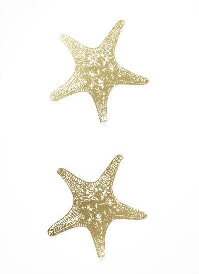 2-Up Gold Foil Starfish I-Vision Studio-Art Print