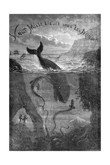 20,000 Leagues under the Sea, Jules Verne - Title Page--Giclee Print