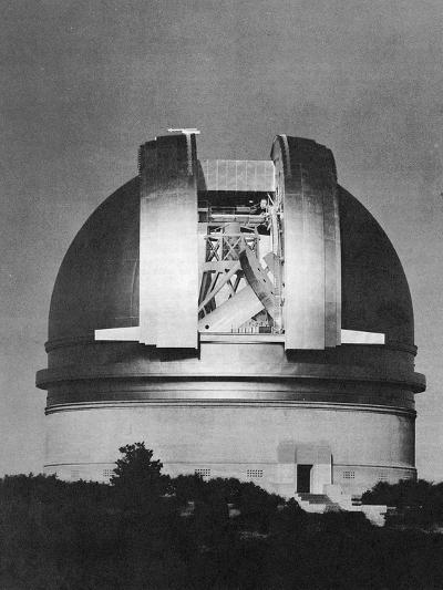 200 Inch Hale Telescope at Palomar Observatory, California, at Night, C1948--Giclee Print