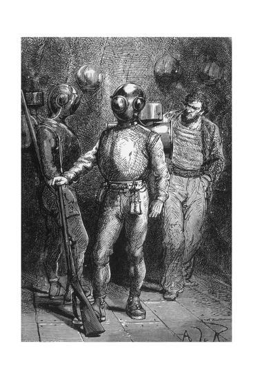 20000 Leagues under the Sea, Jules Verne-Hildebrand Jules Verne-Giclee Print