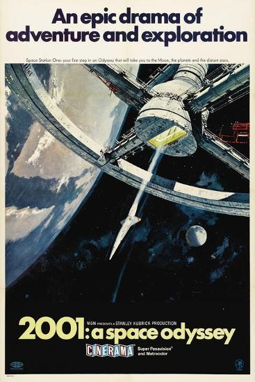 2001: A Space Odyssey, 1968--Giclee Print
