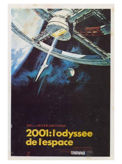 2001: A Space Odyssey, French Movie Poster, 1968--Art Print