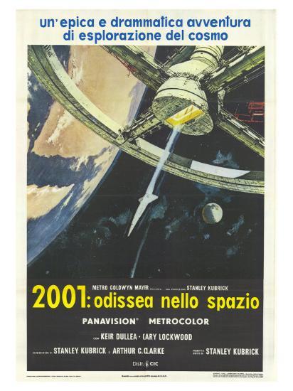 2001: A Space Odyssey, Italian Movie Poster, 1968--Art Print
