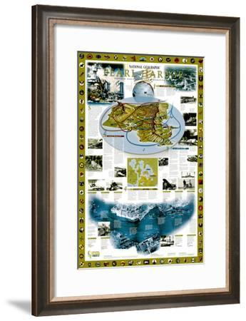 2001 Pearl Harbor-National Geographic Maps-Framed Art Print